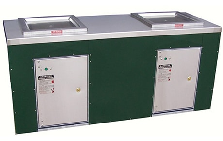 Double Cabinet with Double Gas BBQs