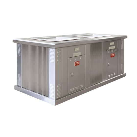 ECO-i Double Stainless Steel Cabinet with Eco Friendly BBQs