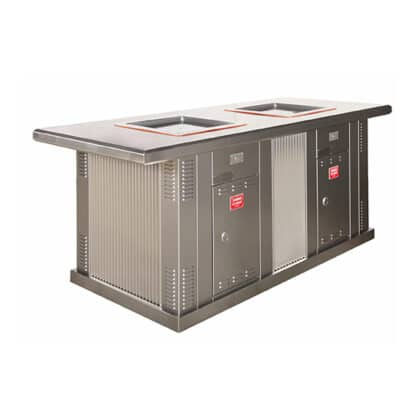 ECO-i Double Stainless Steel Cabinet with Extended Top