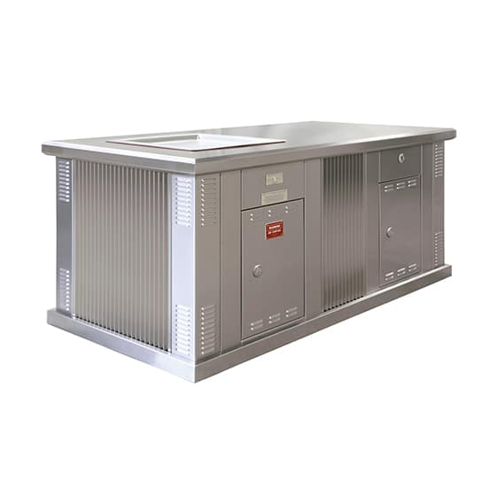 ECO-i Single Stainless Steel Cabinet with Eco Friendly BBQ