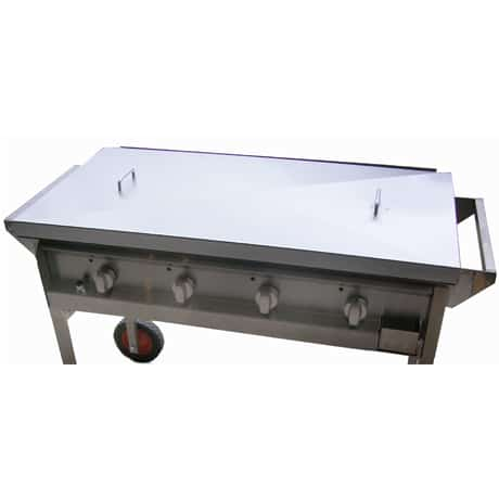 Optional Powder-Coated or Stainless Steel Lid in for Hercules Hotplate BBQ