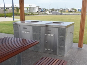 Built in Park BBQ with Brickwork