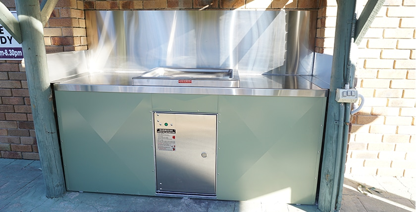 Custom Built Public BBQ for Retrofit Installation