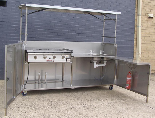 Portable BBQs - Barbecues designed for mobile cooking & trailer installations