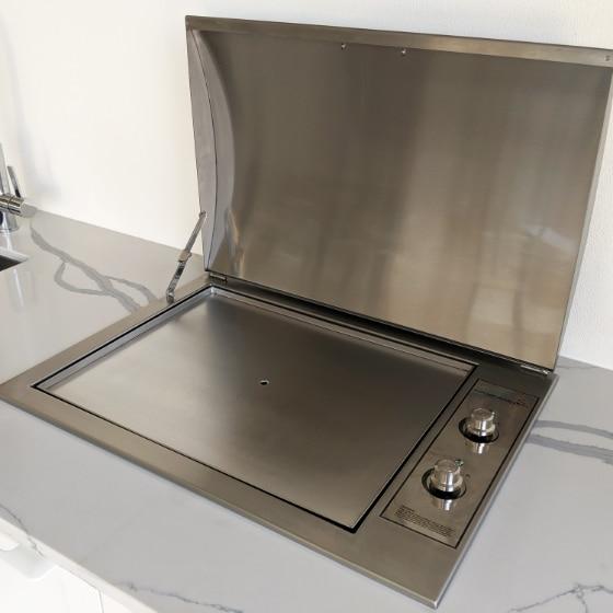 Infinity Teppanyaki BBQ Flush Mounted Built-in Electric Hotplate