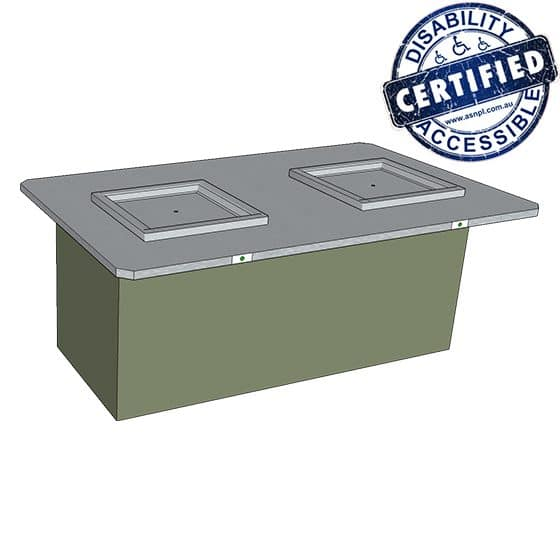 Park Pro Double Accessible BBQ Cabinet - Wheelchair Friendly