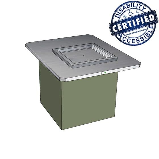 Park Pro Single Accessible BBQ Cabinet - Wheelchair Friendly